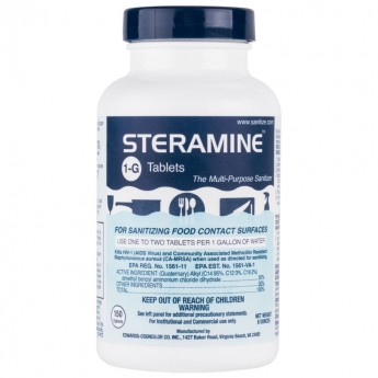 Steramine bottle